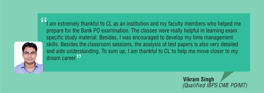 Student Testimonial for Bank classroom preparation