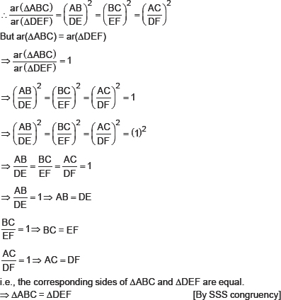 Cbse hots questions for cbse triangles class x math since the ratio of areas of two sinular triangles is equal to the square of the ratio of their corresponding sides ccuart Choice Image