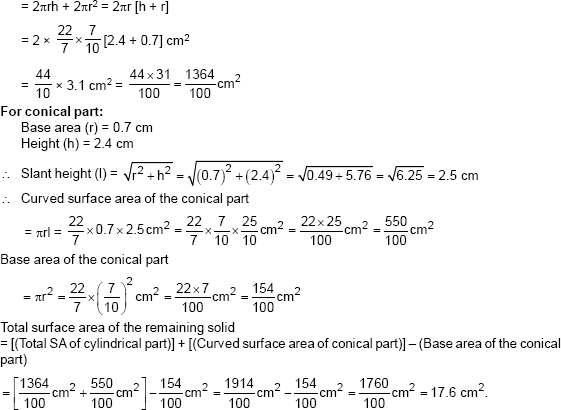 how to find total surface area of a solids
