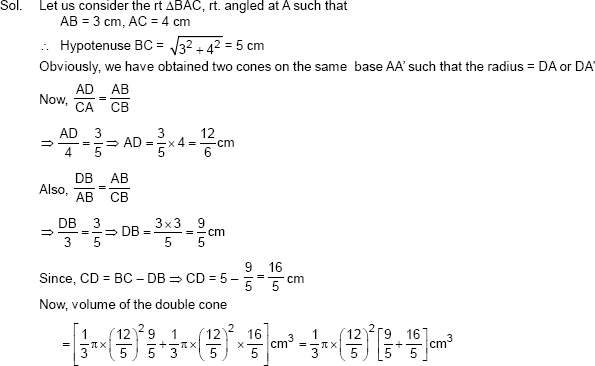 CBSE 10, Math, CBSE- Surface Areas and Volumes, NCERT Solutions