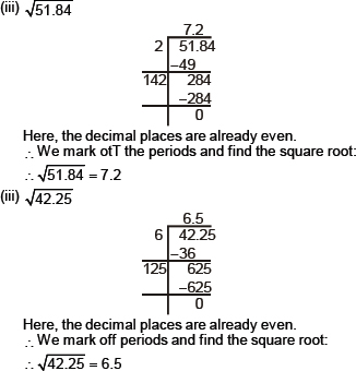 CBSE 8, Math, CBSE- Squares and Square Roots, NCERT Solutions