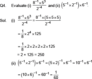 CBSE 8, Math, CBSE- Exponents and Powers, NCERT Solutions