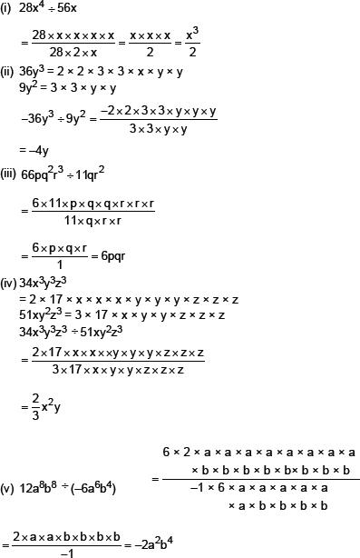CBSE 8, Math, CBSE- Factorization, NCERT Solutions