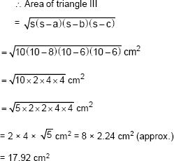 CBSE 9, Math, CBSE- Herons Formula, NCERT Solutions