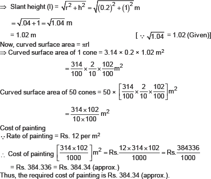 CBSE 9, Math, CBSE- Surface Areas and Volumes, NCERT Solutions